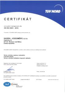 Certifikat ISO9001_2018_KADEN